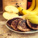 Банановые оладьи без яиц и муки