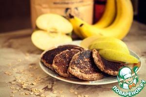 Рецепт Банановые оладьи без яиц и муки