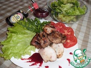 Рецепт Свиные ребрышки с клюквенным соусом
