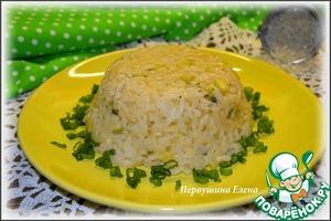 Рецепт Ризотто с кабачком и плавленным сыром