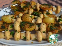 Картошка с грибами на гриле ингредиенты