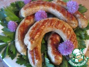 Рецепт Домашние колбаски на углях