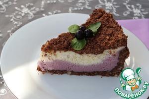 Рецепт Королевская шоколадно-сливочная ватрушка с черной смородиной
