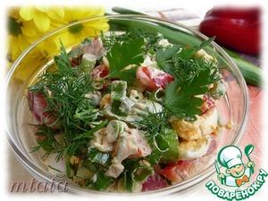 Рецепт Салат из зеленого лука, яйца и болгарского перца
