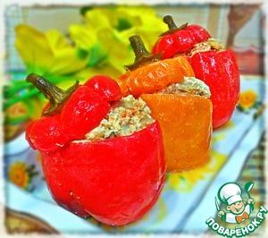 Рецепт Фаршированные перцы в томатно-сметанном соусе