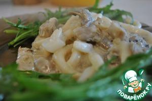 Рецепт Грибные кальмары