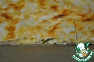 Лаваш с сыром вместо хлеба
