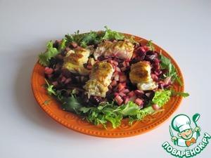 Рецепт Салат со свеклой и рыбой карри