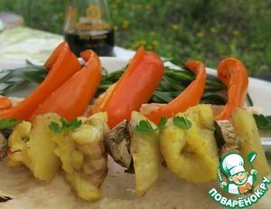 Рецепт Рыбный шашлык в йогуртово-соевом маринаде