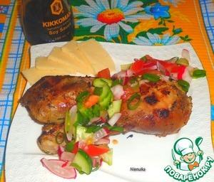 Рецепт Голень утиная в кефирно-мускатном маринаде