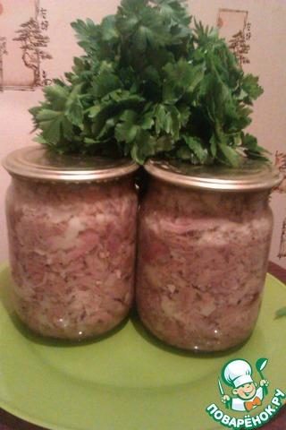 Тушенка из свиной головы рецепт с фотографиями пошагово готовим #8