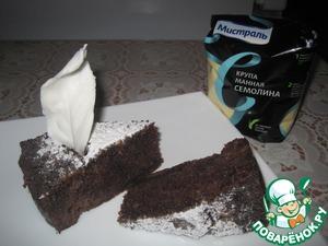 Рецепт Манник на кефире шоколадный
