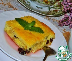 Рецепт Творожно-рисовая запеканка по бабушкиному рецепту