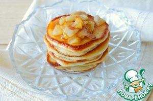 Рецепт Вкусные оладушки с карамелизированными яблоками