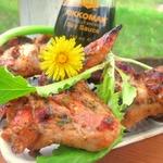 Куриные крылья горчично-апельсиновые в соевом соусе
