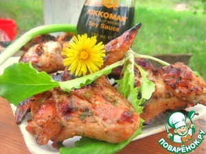 Рецепт Куриные крылья горчично-апельсиновые в соевом соусе