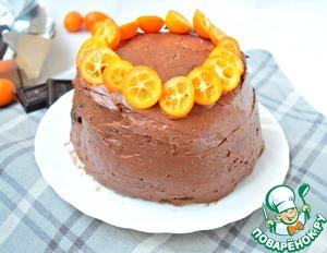 """Рецепт Торт """"Наполеон-апельсин и шоколад"""""""