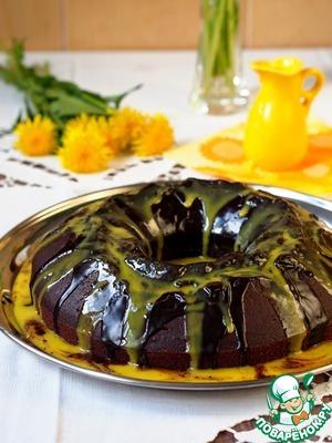Рецепт Шоколадный бисквитный кекс на красном вине