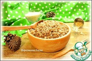 Рецепт Каша гречневая с кедровым соусом