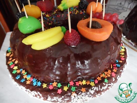 Детские бисквитные торты рецепты фото