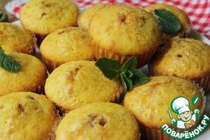 Рецепт Домашние кексы с вишней