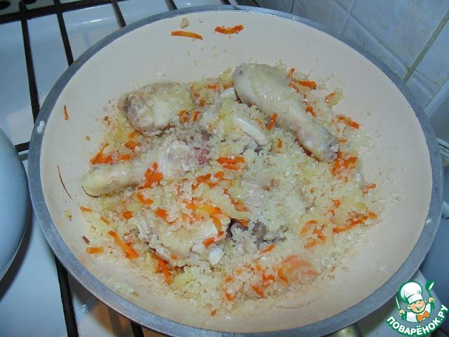 Плов с куриными ножками рецепт пошагово