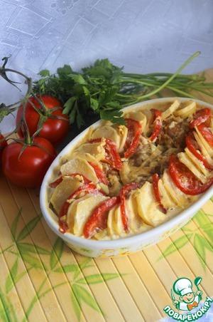 Рецепт Запеканка из тефтелей и овощей