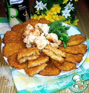 Рецепт Лепёшки из риса и цветной капусты