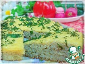 Рецепт Простая рисовая запеканка с фаршем