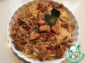 Рецепт Пикантные Китайско-Итальянские спагетти