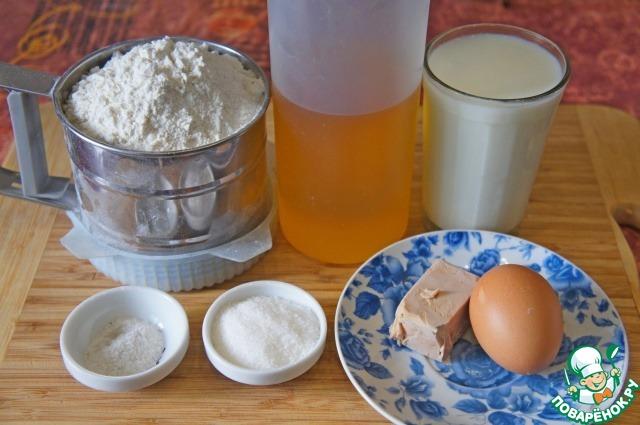 Милашино тесто и пирожки из него пошаговый рецепт приготовления с фото #1