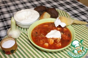 Рецепт Борщ на кубанский манер