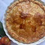 """""""Шелковый """" капустный пирог с красным луком"""