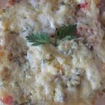 Рисово-овощная запеканка под сырной шубкой