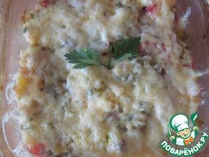 Рецепт Рисово-овощная запеканка под сырной шубкой