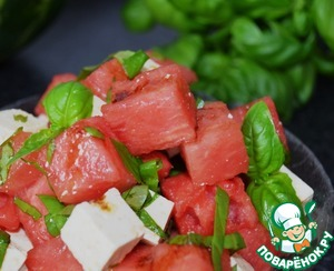 Рецепт Салат из арбуза с сыром фета