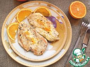 Куриная грудка в сливочно-апельсиновом соусе простой пошаговый рецепт с фото