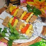 Овощной шашлык с сухариками