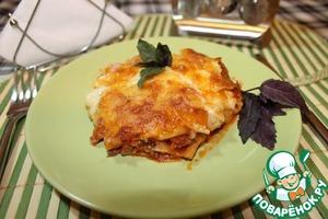 Рецепт Лазанья с соусом Болоньезе, упрощенный вариант