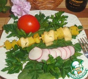 Рецепт Картофельный шашлык с сыром