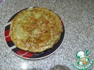 Рецепт Блины с припеком с сыром и укропом