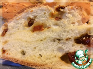 Рецепт Хлеб с сыром, вялеными помидорами и базиликом