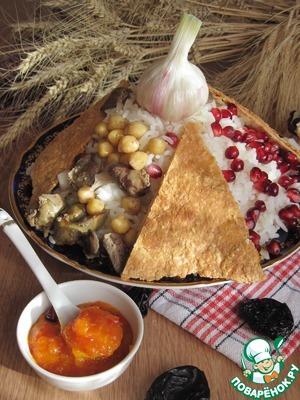 Рецепт Армянский плов с нутом и потрошками