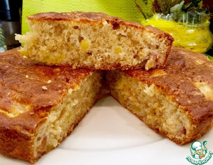 Рецепт: Влажный персиковый пирог