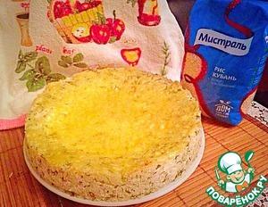 Рецепт Рисовая запеканка с творогом