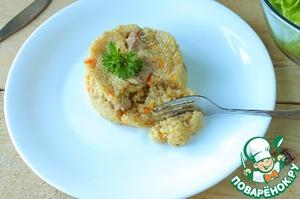 Рецепт: Пшеничная каша в мультиварке с мясом
