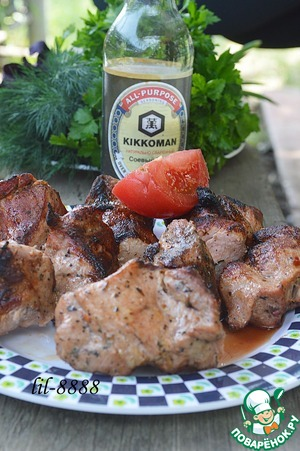 Рецепт Шашлык из свинины с соевым соусом и специями