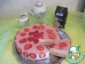 Рецепт Сладкий пирог или торт клубничный с нутовым бисквитом