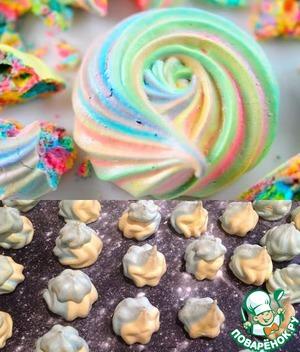 Рецепт Безе-разноцветные меренги