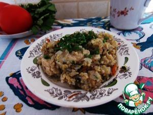 Рецепт Пшенно-гречневая каша с курицей